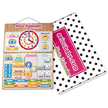 Calendrier Horloge Semainier Magnétique Pour Enfant Jeu éducatif