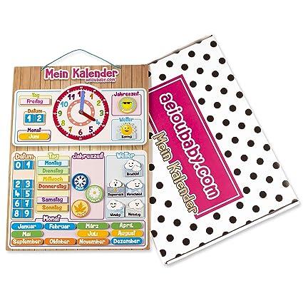 Magnetische Kinder Kalenderuhr Lernspiel Datum Wetter Und Zeit Für Wand Oder Kühlschrank 43x32cm Ideale Box Als Geschenk Zum Kindergeburtstag In