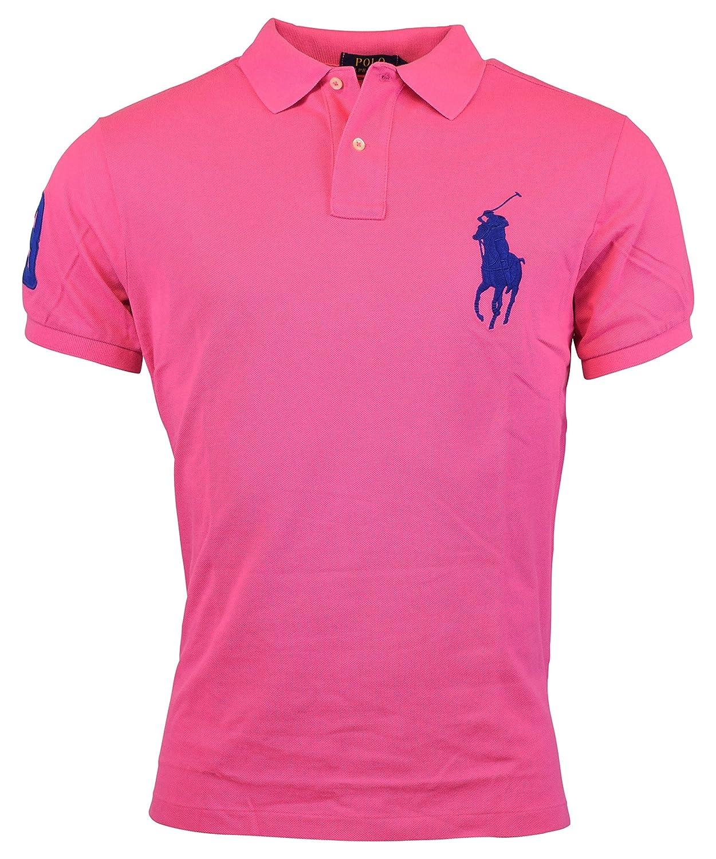 Polo Ralph Lauren Mens Custom Fit Big Pony Mesh Polo Shirt L