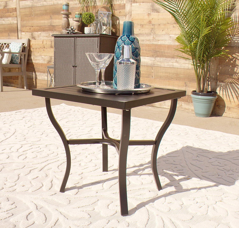 - Amazon.com: Outdoor Aluminum Side Accent Table - Black: Kitchen
