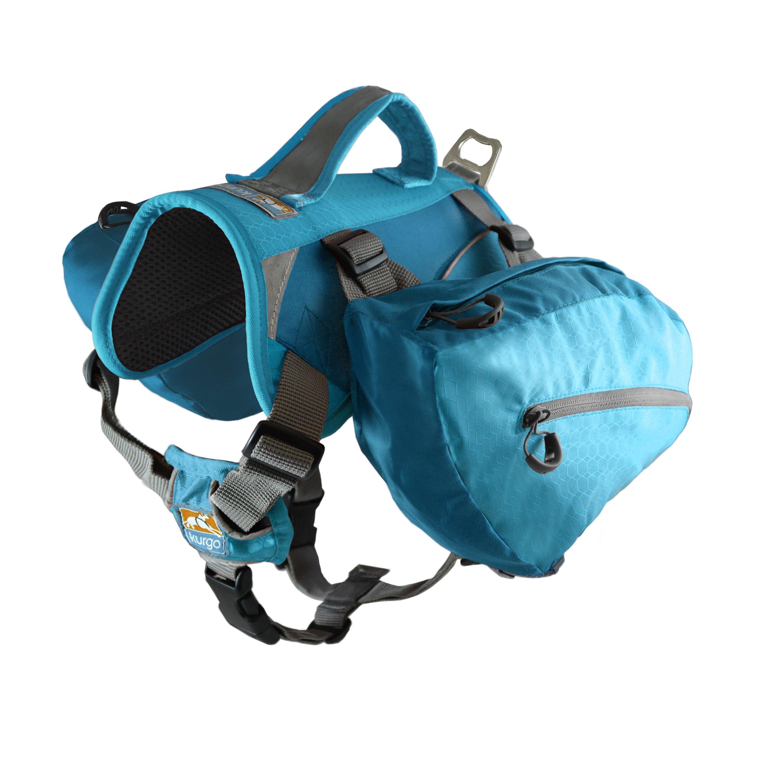 Kurgo Baxter (TM) Dog Backpack for Hiking, Walking or Camping, Coastal Blue