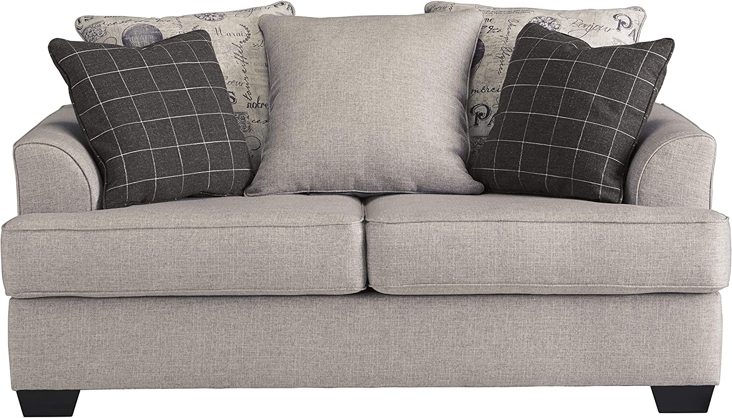 Signature Design by Ashley - Velletri Casual Loveseat w/ 2 Pillows, Beige