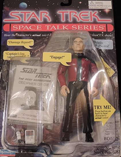 69074516bdb16 Image Unavailable. Image not available for. Color  Star Trek Space Talk  Series Captain Jean-Luc Picard Action Figure