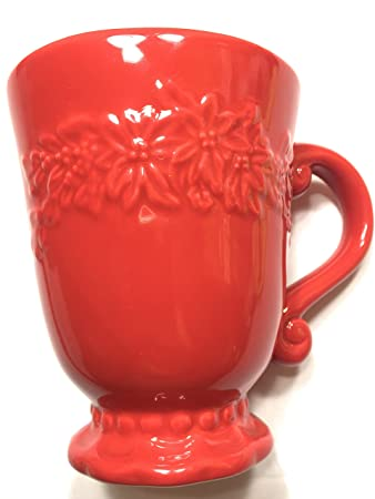 Amazon.com   Roscher & Co Poinsetta Collection Coffee Cup: Coffee ...