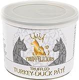 Truffelicious getrüffelte Truthahn-Enten Pastete/Premium Katzenfutter nass mit Trüffel/Hair und Skin Care – Made in Germany/4er Pack (4 x 190 g)