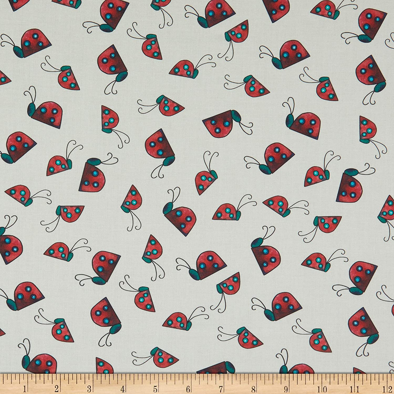 Fabric & Fabric QT Fabrics Painterly Garden Ladybugs, Cream