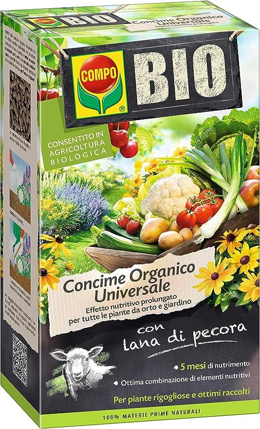 Compo Bio Fertilizante con Lana de Oveja en Pack de 2 kg: Amazon ...