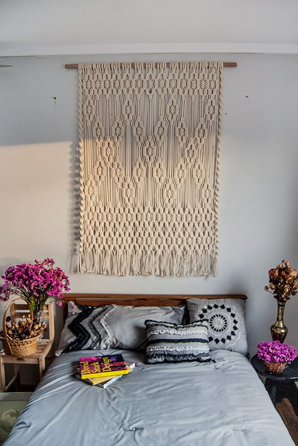 Amazon Com Wall Art For Bedroom Macrame Wall Hanging Large Wall Decoration Above Bed Wall Decor Art Work For Home Walls By The Woven Dream Factory Handmade