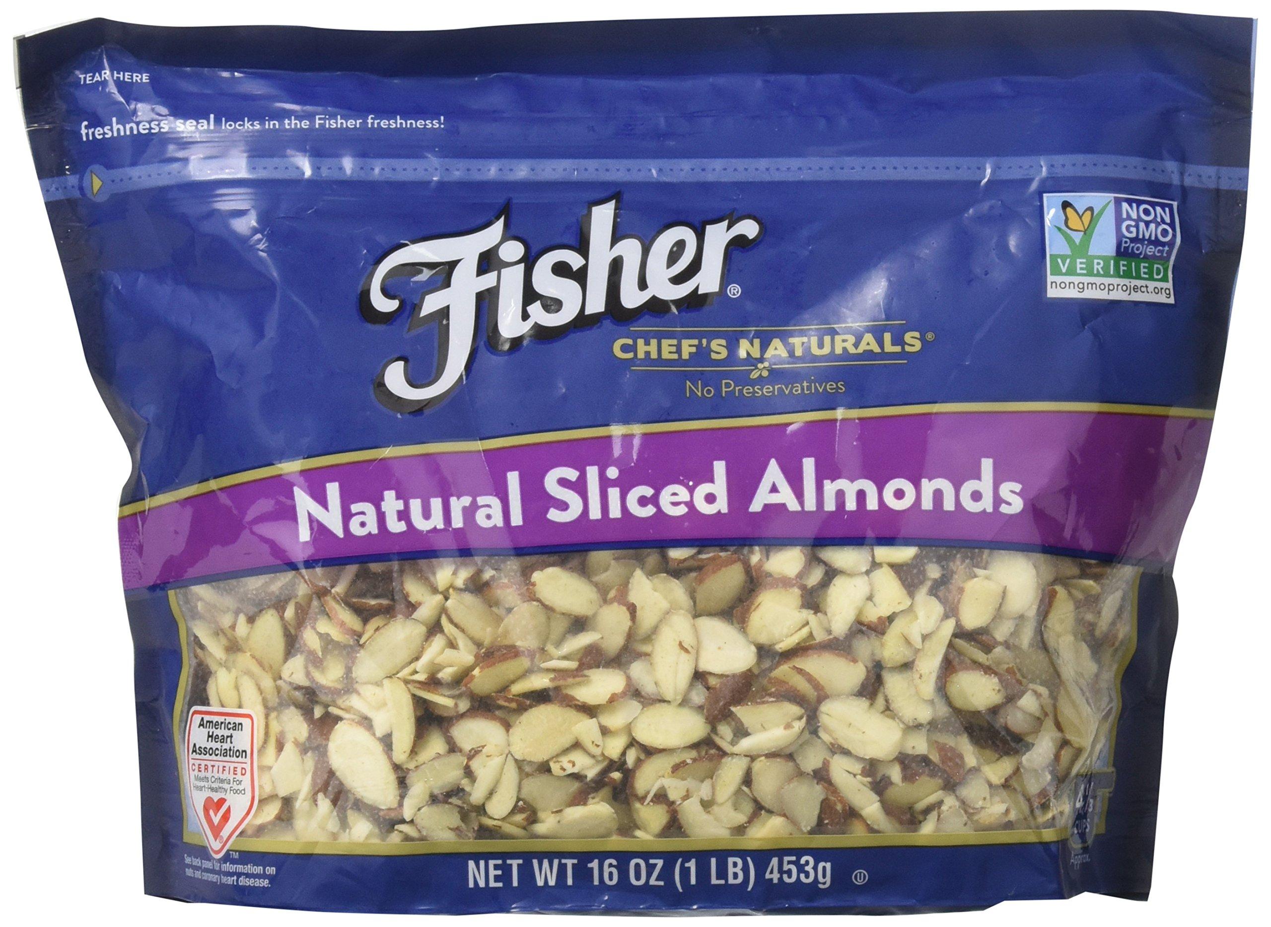 Fisher Chef's Naturals Natural Sliced Almonds 16 Oz. (1 Lb.)