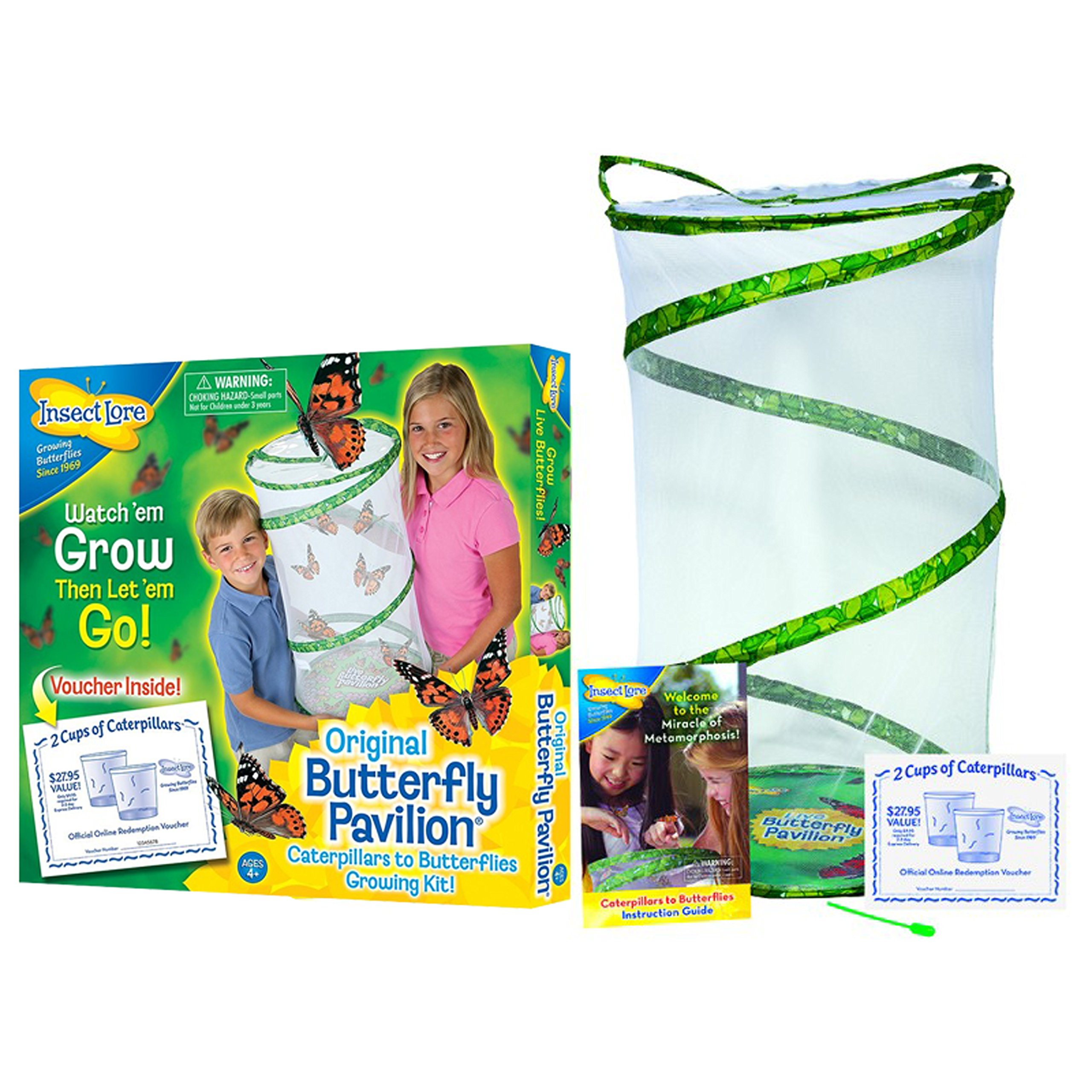 Insect Lore Butterfly Pavilion - Large Habitat Hatching Kit With Voucher For 10 Caterpillars by Insect Lore (Image #1)
