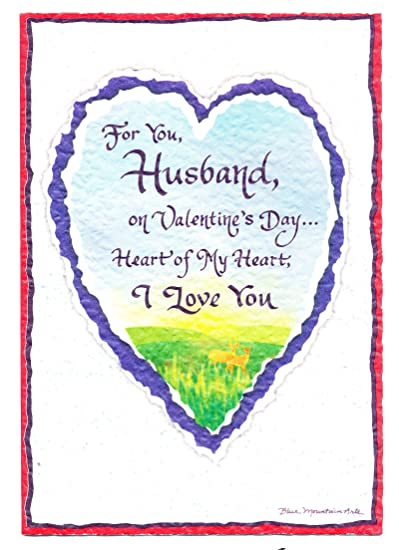 Amazon blue mountain arts greeting card valentines day for you blue mountain arts greeting card valentines day for you husband heart of my heart m4hsunfo Image collections