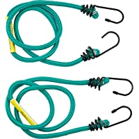 Gripwell Metal Hook Bungee Cord 2 Pieces Set, 8 mm x 105 cm Size
