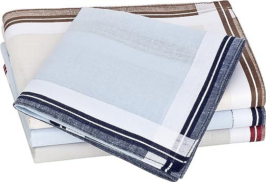 Tobeni 12 Piezas Hombre Pañuelos de Tela 100% Algodón Satinado Color Design 1 Tamano 41 cm x 41 cm: Amazon.es: Ropa y accesorios