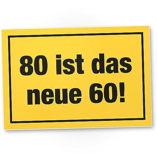 DankeDir!. 80 ES el Nuevo 60 de plástico Cartel, Regalo 80 ...