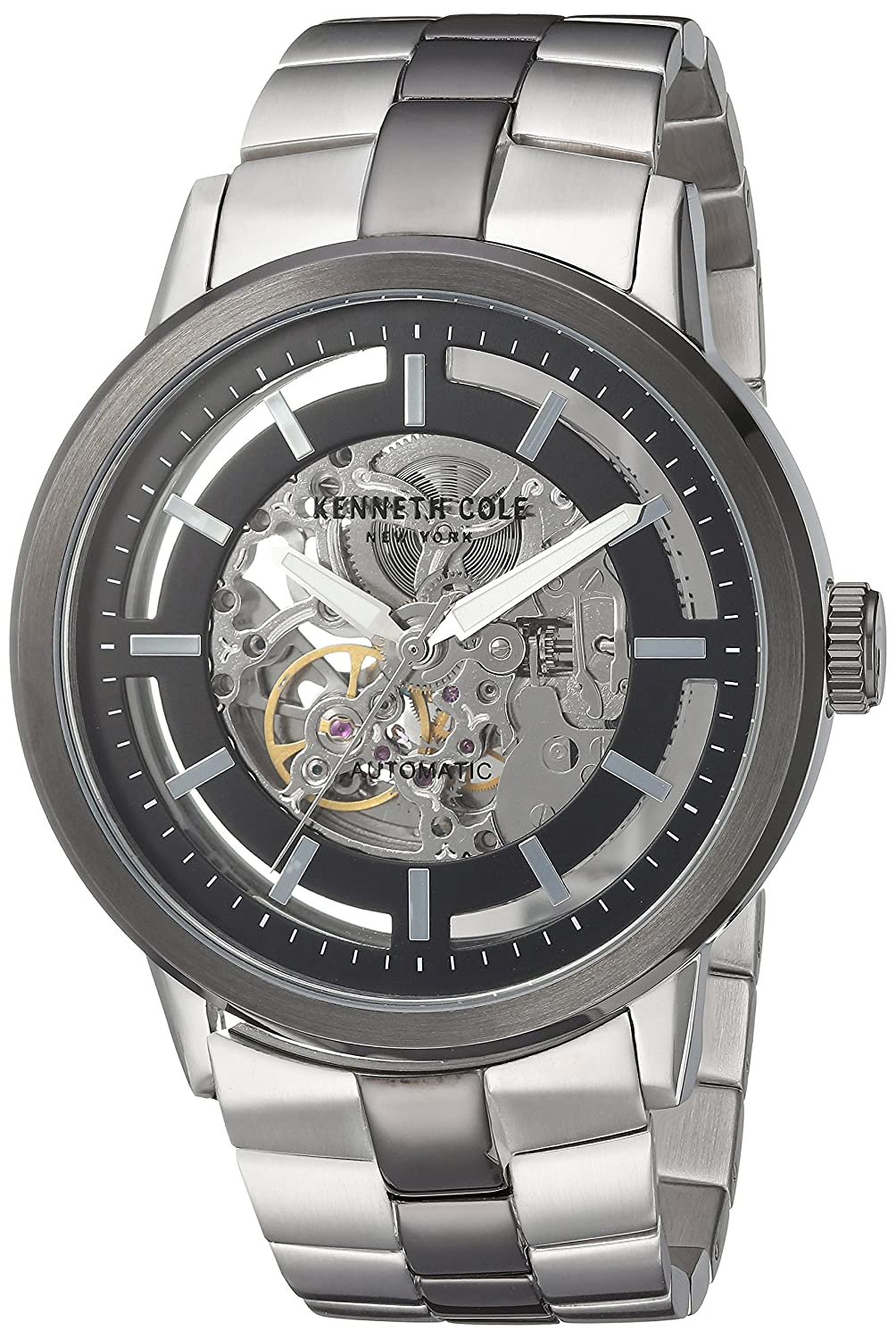 898763ca9 Amazon.com: Kenneth Cole New York Men's 10026785 Automatic Analog Display  Japanese Automatic Silver Watch: Watches
