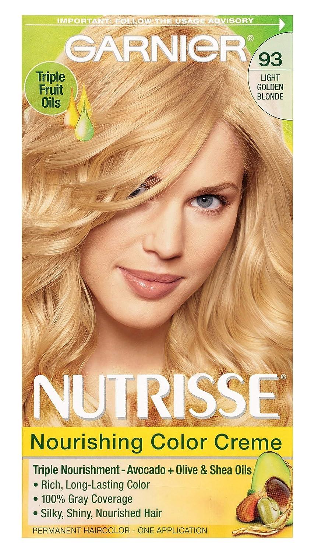 Garnier Nutrisse Nourishing Hair Color Creme, 93 Light Golden Blonde (Honey Butter) (Packaging May Vary)
