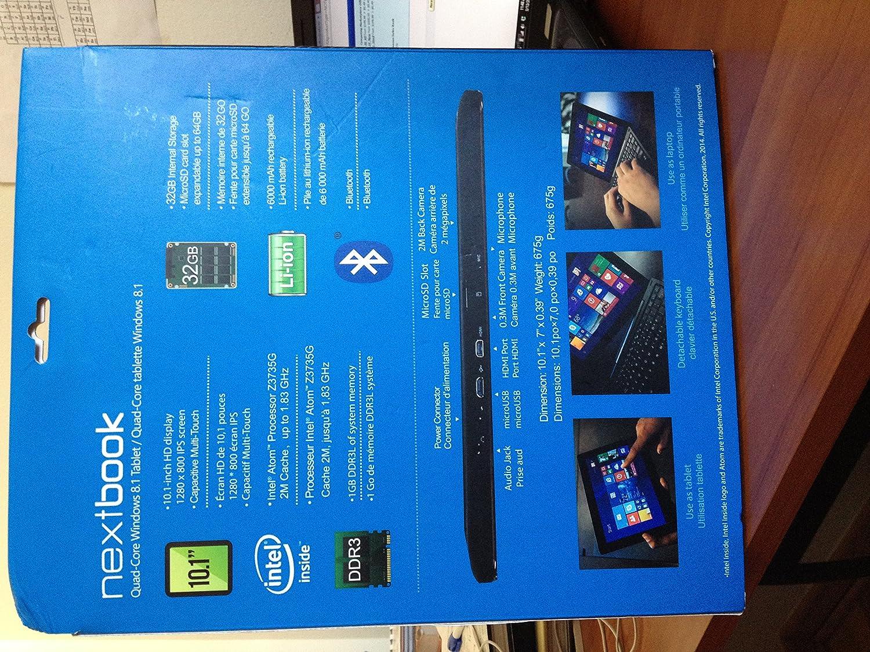 Amazon.com: Nextbook 10.1 Intel Quad Core 2 in 1 Det: Computers & Accessories