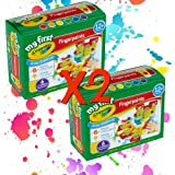 Crayola Washable Finger Paint Easy Squeeze Bottles Family Fun For All Ages Set Of 2 (12 3 OZ Bottles 2 of each color)