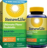 Renew Life Adult Probiotic - Ultimate Flora Adult 50+ Probiotic Supplement - Shelf Stable, Gluten, Dairy & Soy Free - 30…