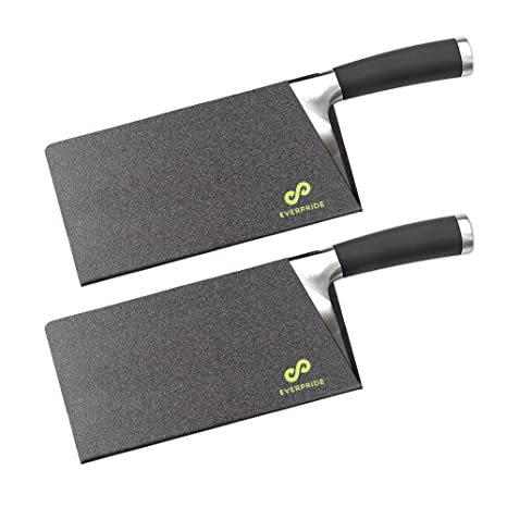 EVERPRIDE Butcher Chef Knife Edge Guards Set (2-Piece Set) Wide Knives Blade Edge Protectors | Heavy-Duty Meat Cleaver and Chopper Blade Guards | ...