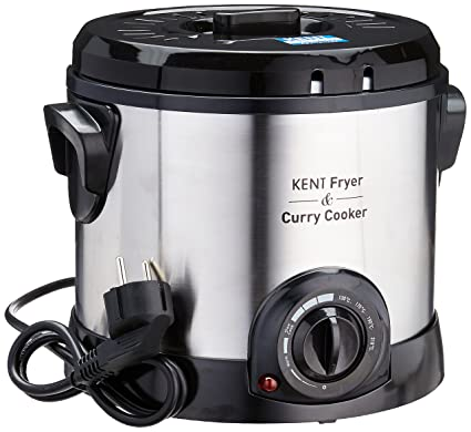 KENT Fryer and Curry Cooker 1500-Watt (Steel Grey)