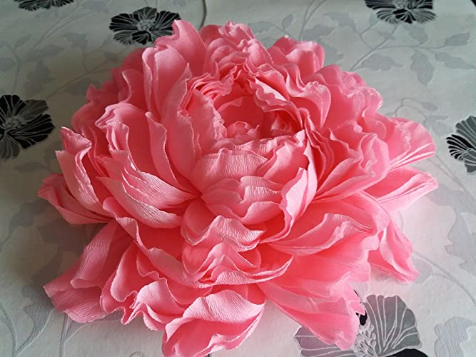 Giant Crepe Paper Peony Large Crepe Paper Flowers Wedding Decoration