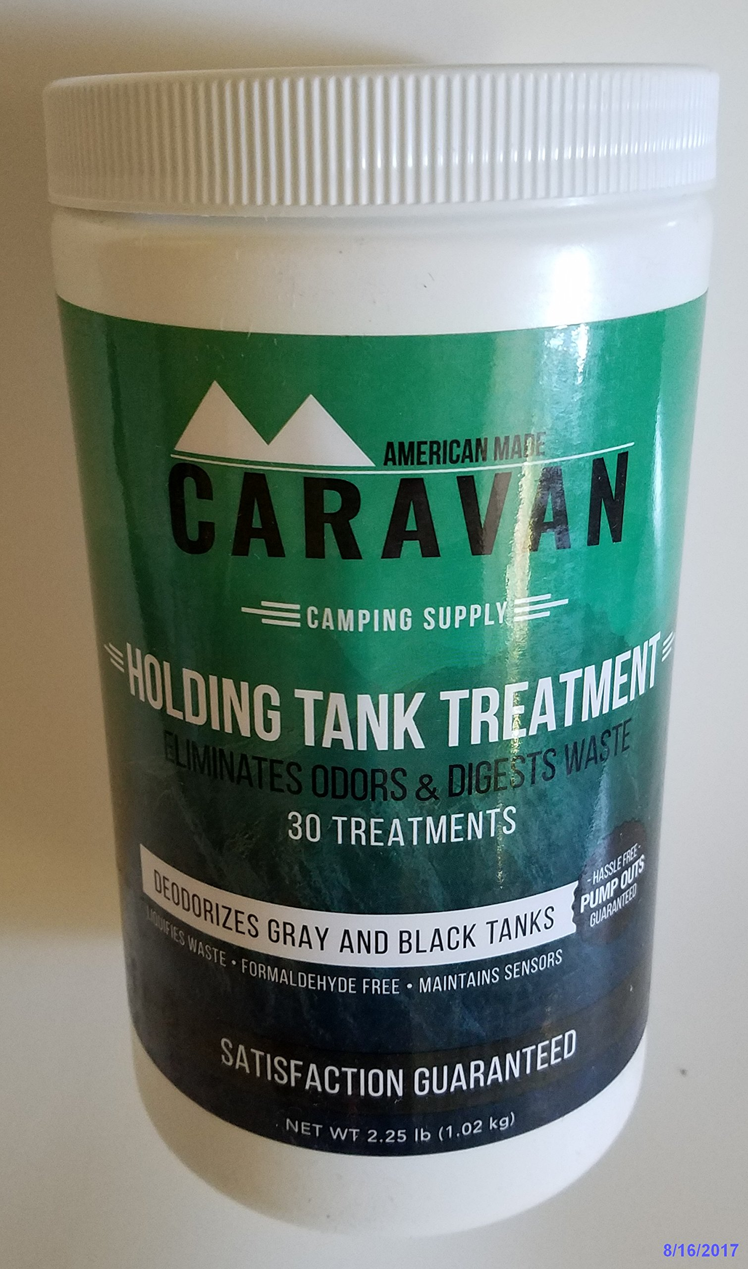 Caravan ''Full-timer's RV Holding Tank Treatment - Natural, eco-Friendly, probiotic Bacteria Enzyme Formula - New and Different Microbial-Based Approach to Eliminate Toilet Odor (30 Treatment Powder) by Caravan