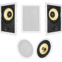 Acoustic Audio HT-85 5.1 Home Theater Speaker System (White)