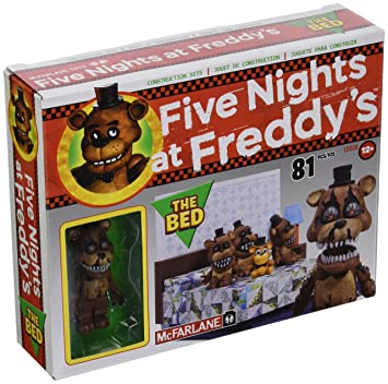 Mcfarlane Construction At Nights Bed Toys Freddy's Set Five The 80OknwP