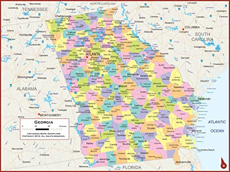 Amazon.com: 60 x 45 Giant Georgia State Wall Map Poster with ... on ga map, murray county georgia map, georgia map with county lines, haralson county georgia map, georgia map usa, cobb county georgia map, georgia highway map, georgia county map by zip code, georgia economy map, georgia business map, georgia county map printable, georgia town map, georgia cities, georgia regions, georgia capitals map, atlanta map, georgia and russia map, georgia lakes map, georgia states map, georgia indian trails map,