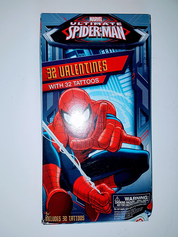 Paper Magic 32 Marvel Ultimate Spiderman Valentines y 32 Tatuajes ...
