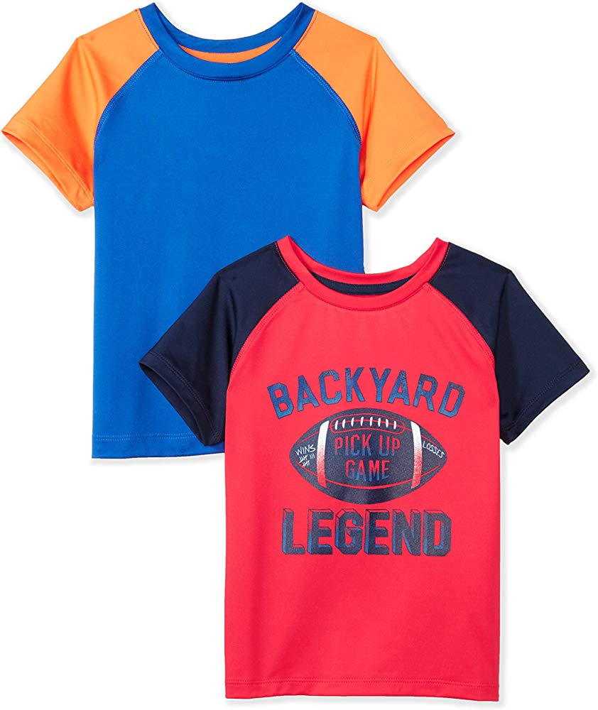 Brand Spotted Zebra Boys Toddler /& Kids 2-Pack Active Short-Sleeve T-Shirts