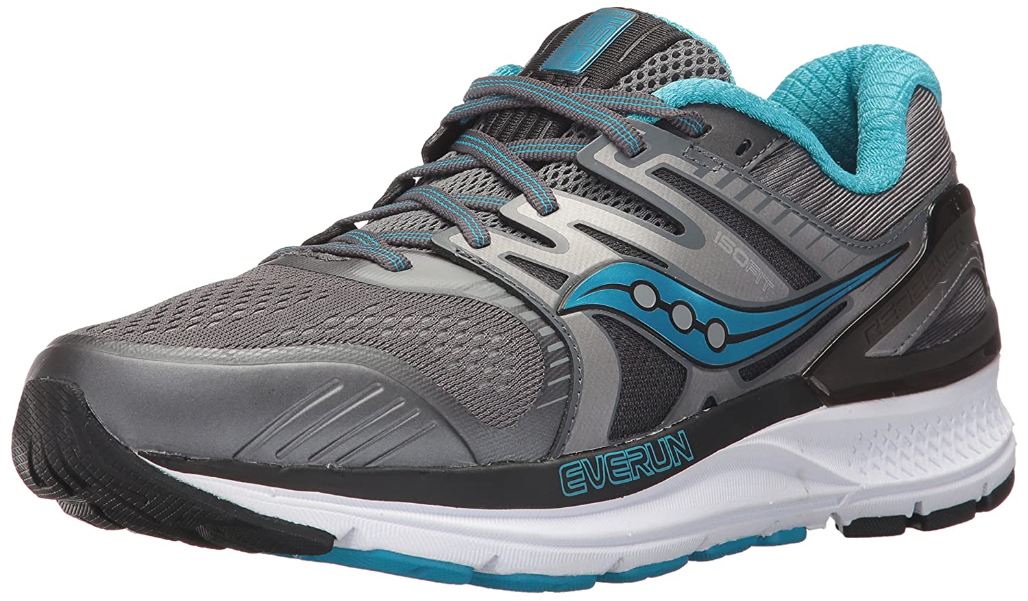 Saucony Women's Redeemer Iso 2 Running Shoe B01N6JJKLU 8.5 W US|Grey Blue