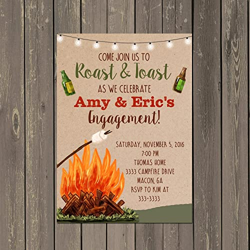 amazon com bonfire roast and toast engagement party invitation