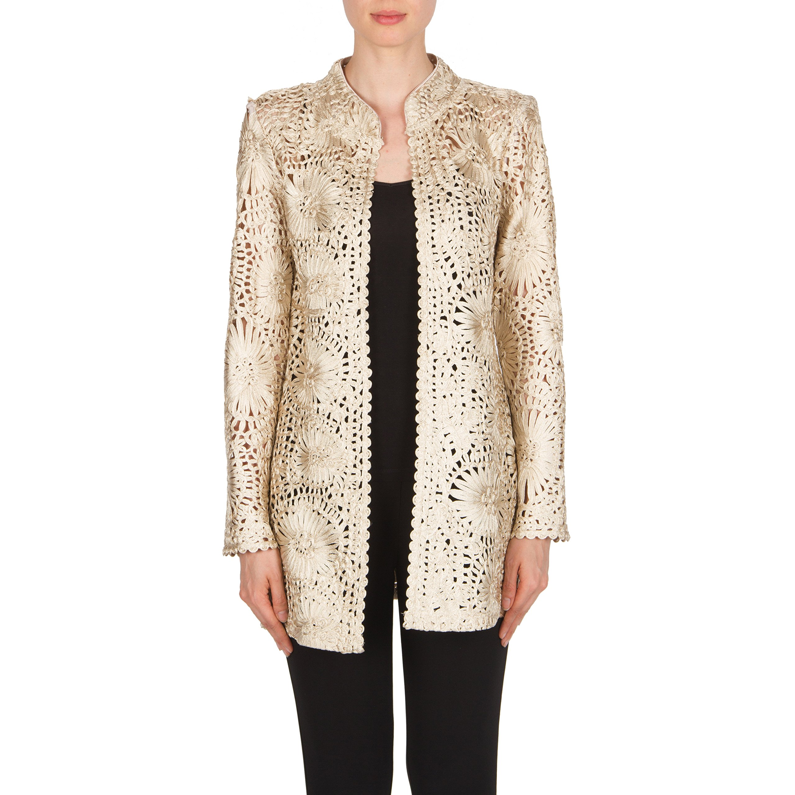Joseph Ribkoff Crochet-Style Cover Up Jacket Style 174504 Size 8