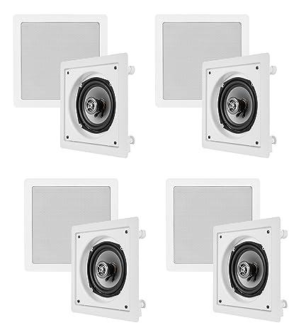 8 vm audio shaker 525 125w square in ceilingin wall surround sound - In Wall Surround Sound Speakers