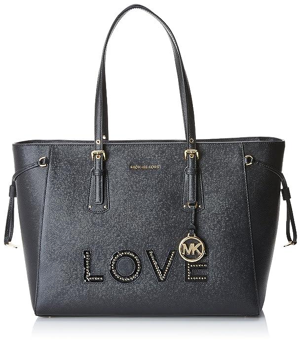 Amazon.com  Michael Kors Womens Voyager Tote Black (Black) 30H7GV6T7O  Shoes b299fe1725446