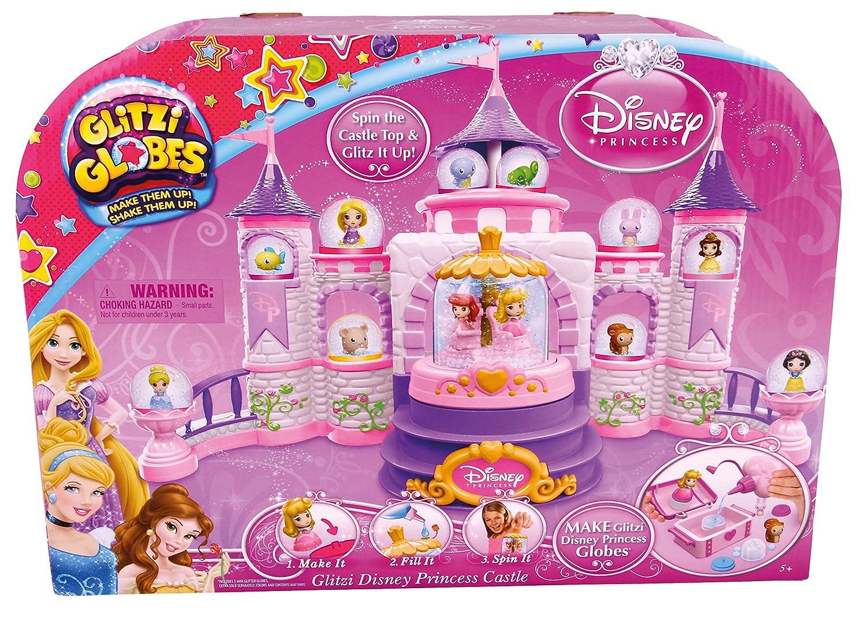 Amazon.com: Glitzi Globes Disney Princess Spin and Sparkle Castle ...