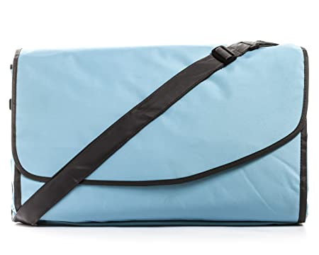 Camco 57 Inch x 57 Inch 42809 Picnic Blanket with Carrying Strap-Aqua