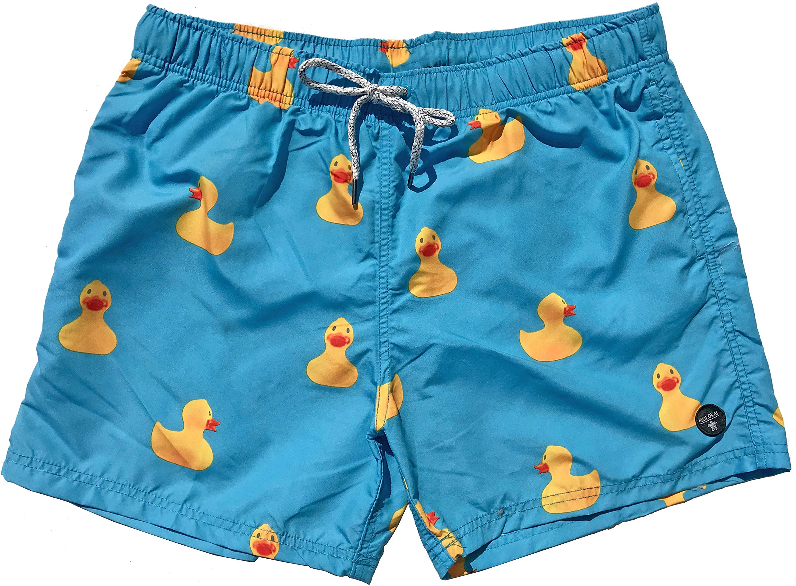 Official Molokai Swim Trunks and Shorts (Rubber Ducks, Medium) by M MOLOKAI SURF