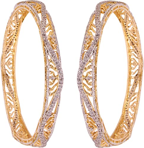 Shiv/_Collection Traditional Style CZ Stone Indian Bangles Party wear Jewelry For Girls