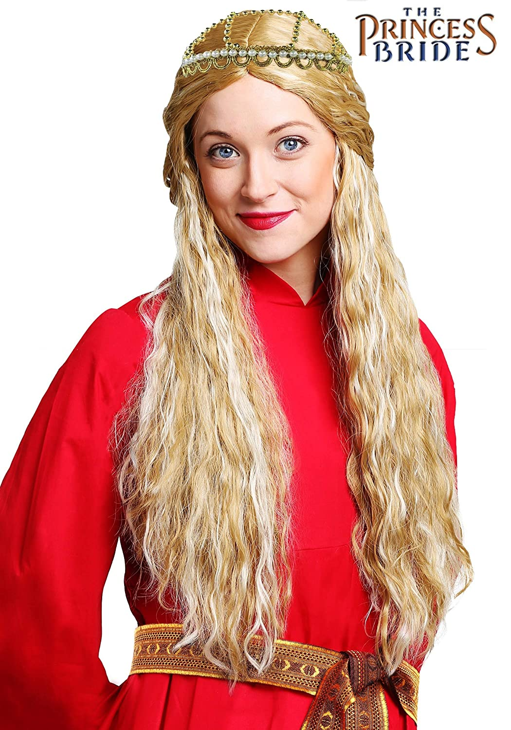 Fun Costumes The Princess Bride Long Waved Synthetic Blonde Buttercup Wig  Yellow