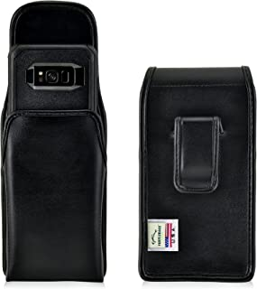 product image for Turtleback Holster Made for Samsung Galaxy S8 with Otterbox Commuter Case Black Vertical Belt Case Leather Pouch with Executive Belt Clip Made in USA
