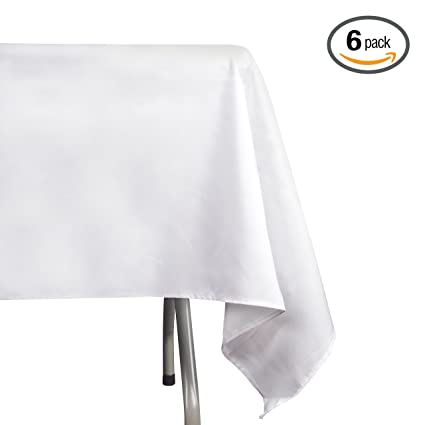 Lovely Emart Rectangle Tablecloth, 60 X 102 Inch White 100% Polyester Banquet  Wedding Party Picnic