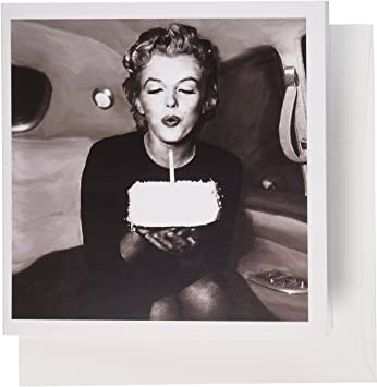 Awesome Amazon Com 3Drose Marilyn Monroe Greeting Cards 6 X 6 Inches Funny Birthday Cards Online Alyptdamsfinfo