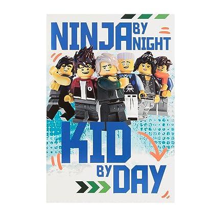 Hallmark - Tarjeta de Lego Ninja Go