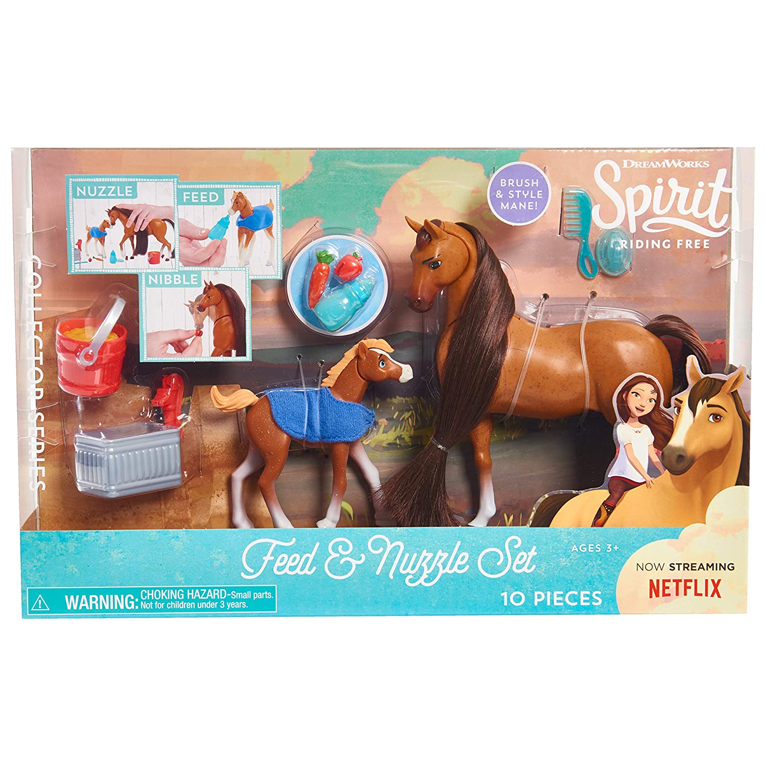 Brown Just Play JPL39310 2 Pack Spirit 39311 Feed /& Nuzzle Collectible Figurines