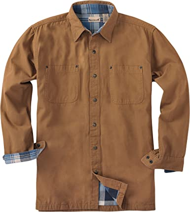 Backpacker Mochilero Lienzo/Camisa de Franela con Chaqueta, Hombre, Color marrón, tamaño XL: Amazon.es: Deportes y aire libre