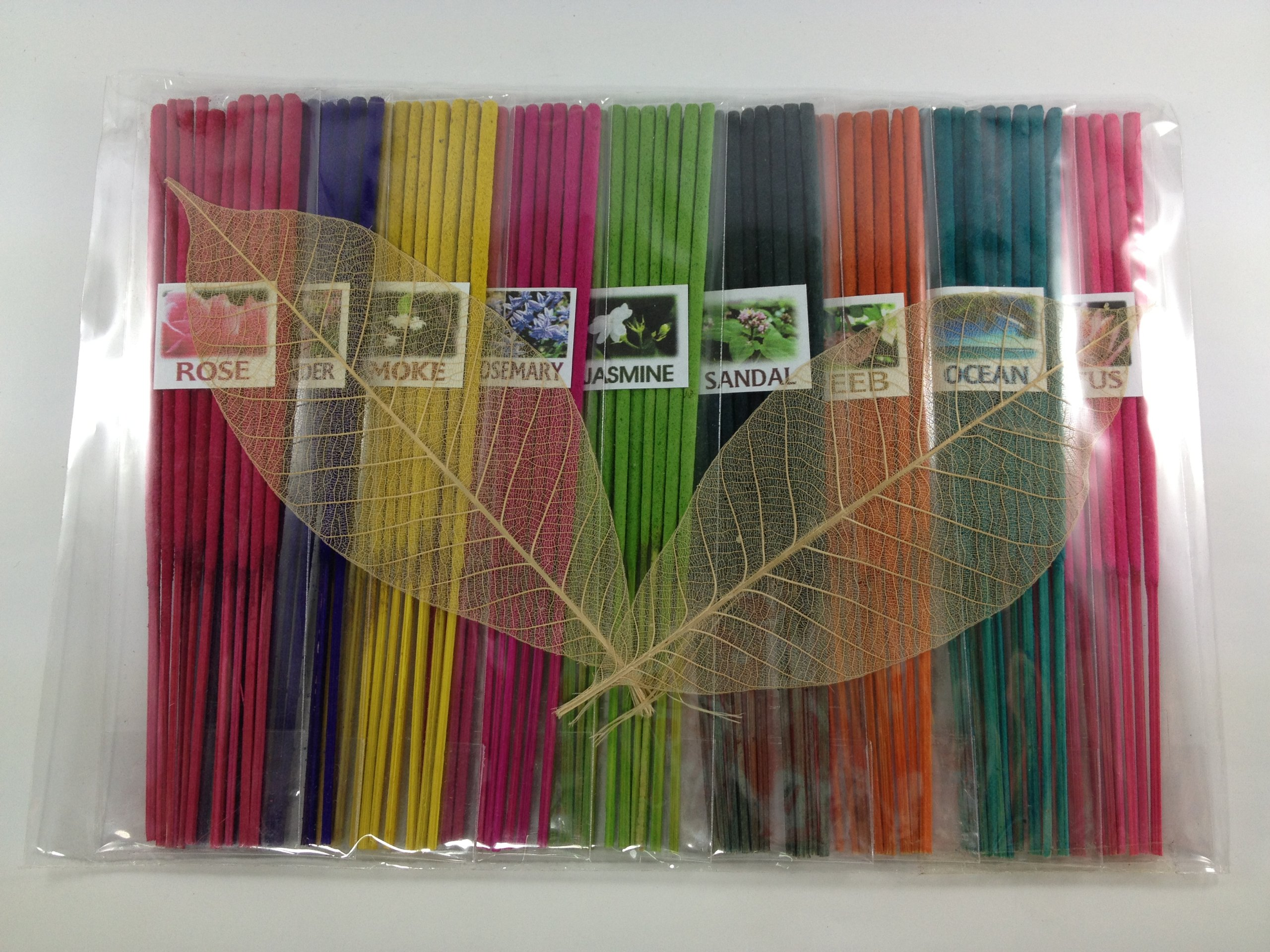 Thai Incense Sticks with 9 Aroma Smell - Moke Rosemary Jasmine Sandal Lotus Ocean Rose Lavender Peeb