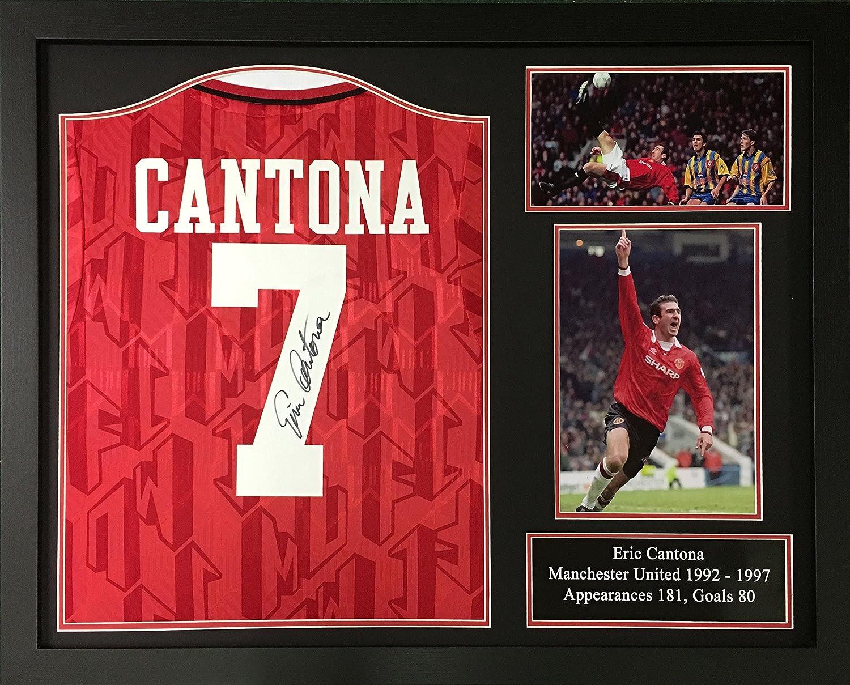 Eric Cantona signiert und gerahmt Manchester United Shirt mit ...